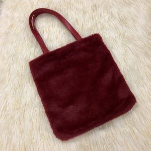 Forever 21 | Maroon Red Medium Size Fur Tote